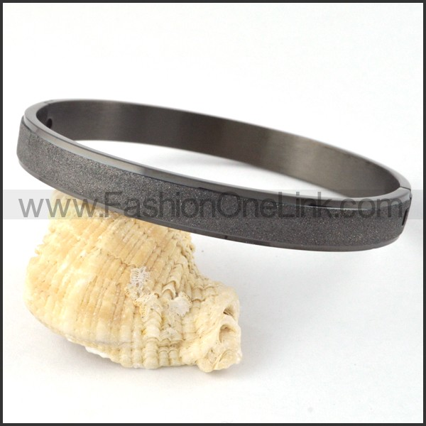 Polishing Black Couple Bangle b000419