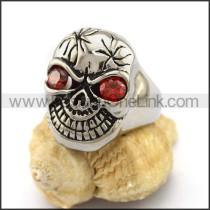 Delicate Stainless Steel Skull Ring  r003166
