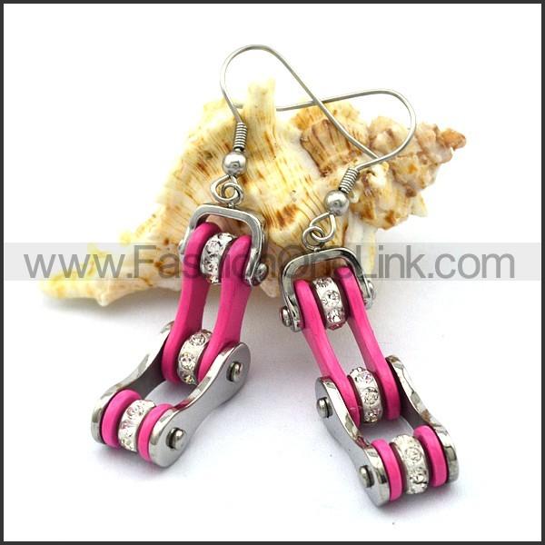 Pink Biker Earrings    e001059