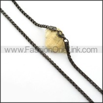 Delicate Black Plated Necklace    n000403