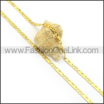 Golden Flat Hollowed-out Heart Plated Necklace n000897
