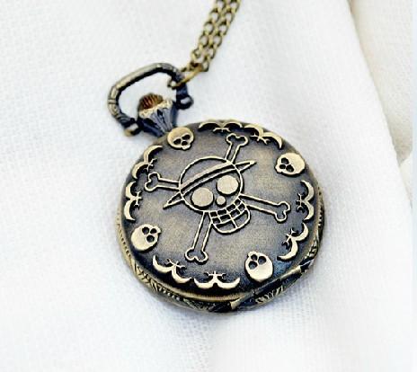 Antique Skull Pocket Watch Chain PW000009
