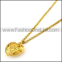 Hollowed-out Heart Necklace n001147