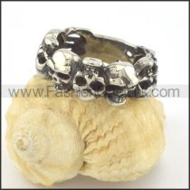 Stainless Steel Skull Ring r001347