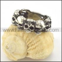 Stainless Steel Skull Ring r001347