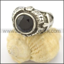 Vintage Black Stone Ring r001647