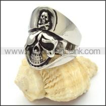 Stainless Steel Skull Ring r000480