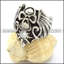 Punk Style Stainless Steel Ring r000860