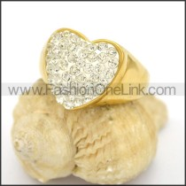Exquisite Shiny Stone Stainless Steel Ring r002786
