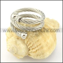 Stainless Steel Classic Rope Ring r000588
