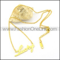 Golden LUCKY  Fashion Necklac   n000463