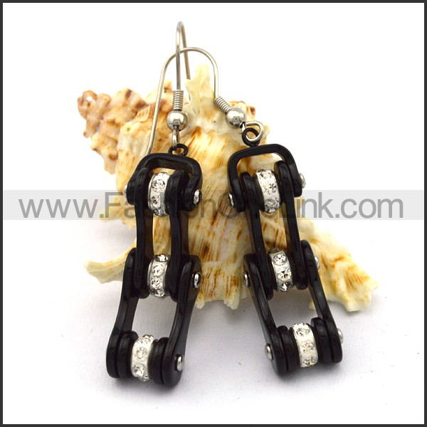 Fashion Stainless Steel Biker Earrings    e001066