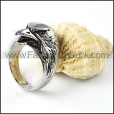 Stainless Steel Bald Eagle Ring r000258