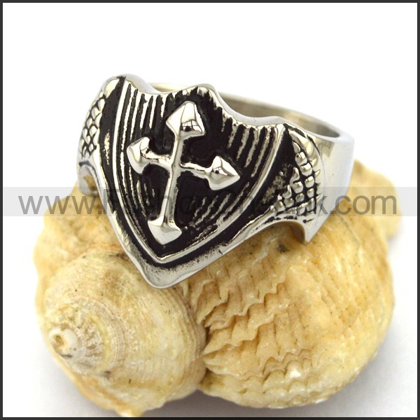 Delicate Stainless Steel Cross Ring   r002934