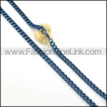 Blue Succinct Plated Necklace    n000260