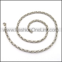 Interlocking Chain Stamping Necklace n001123
