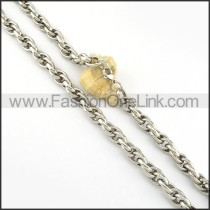 Silver Fashion Necklace           n000225