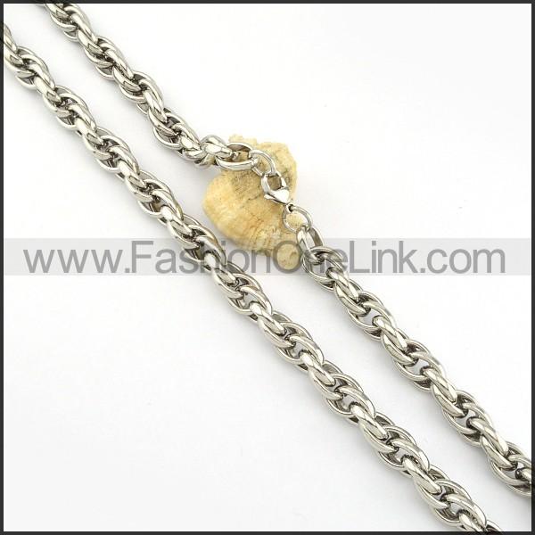 Silver Fashion Necklace           n000225