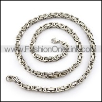 Succinct Silver Stamping Necklace  n000154