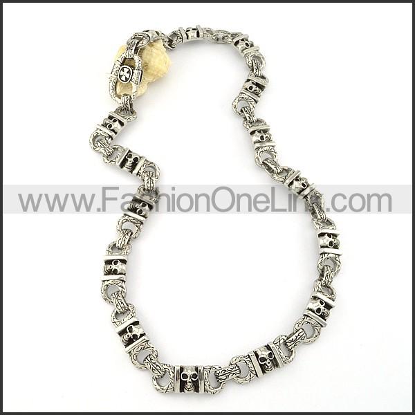 Delicate Skull Necklace    n000239
