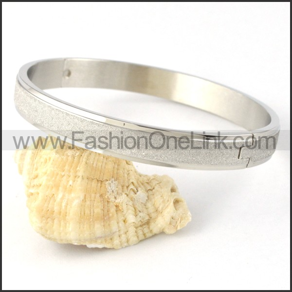 Polishing Silver Couple Bangle b000413