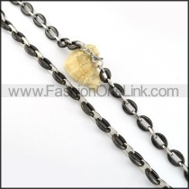 Exquisite Black and Silver Plated Necklace    n000219