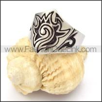Stainless Steel Totem Design Ring r000338