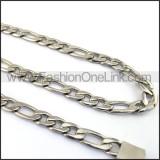 Interlocking Chain Stamping Necklace n001137