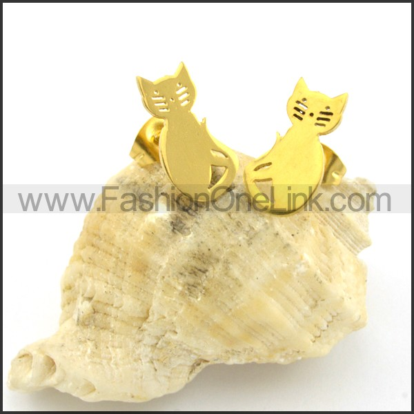 Cat Earrings    e000730