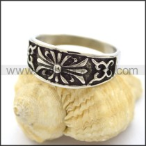 Delicate Stainless Steel Cross Ring  r001808