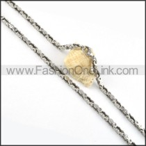 Biker Chain Stamping Necklace    n000052