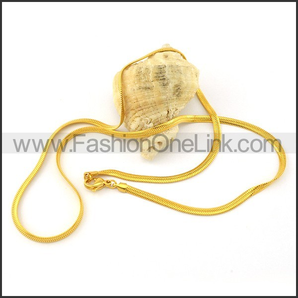 Golden Succinct Plated Necklace    n000317