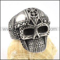 Stainless Steel Delicate Army Skull Ring  r000057