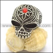 Delicate Stainless Steel Skull Ring r002245