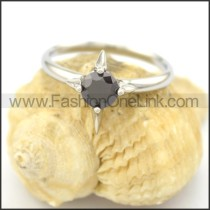 Graceful Stainless Steel Stone Ring  r002078