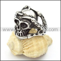 Stainless Steel Skull Ring r000419