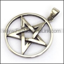 Unique Stainless Steel Pentacle Pendant   p003889