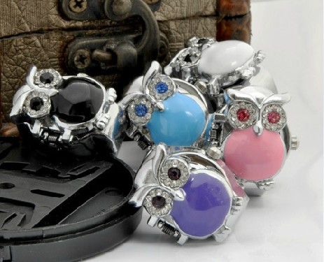Silver Owl Ring Watch PW000225