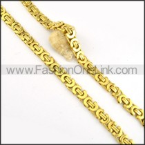 Decorous Golden Plated Necklace      n000168