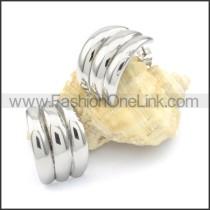 Ring Stack Design Stainless Steel Earrings  e000085