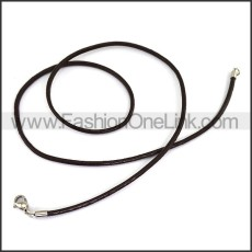 Simple Black Rubber Necklace n001181