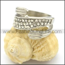 Exquisite Stone Stainless Steel Ring  r002193