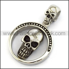 Exquisite Stainless Steel Skull Pendant  p004066