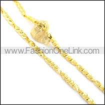 Succinct Golden Plated Necklace n000644