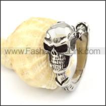 Stainless Steel Wicked Skull Ring r000327