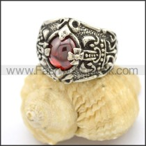 Delicate Stone Stainless Steel Ring  r002558