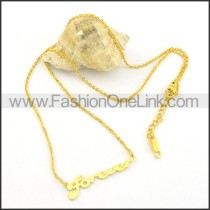 Golden Graceful LUCKY Necklace     n000461