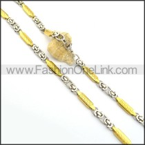 Beautiful Gold and Silver Plated Necklace n000763