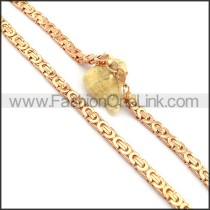 Rose Gold Plated Necklace n000733