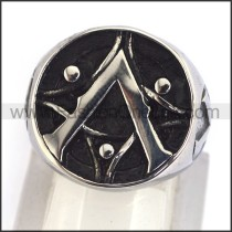 Delicate  Stainless Steel Casting Ring   r003441